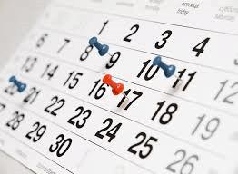 Data evenementen 2018 – 2019